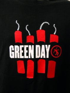 2006 Large Rock Band Green Day Black Tee Shirt American Idiot Music Red Dynamite #Simpsons #EmbellishedTee