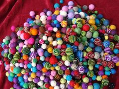 2oz. Felt Baubles For Garlands Wreaths Jewelry by hippiechixfiber, $10.50