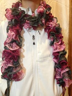 Fashion Ruffle Scarf by knitsandglitter on Etsy, $18.00