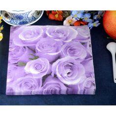 20pcs purple lavender paper napkins serviette tissue party supply home decor PRA