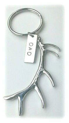 Hey, I found this really awesome Etsy listing at https://www.etsy.com/listing/201634762/large-antler-keychain-with-hand-stamped