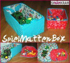 Spielmattenbox, spielzeugbox, spielteppich, Spielzeug Box/ Matte