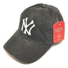 1618ffd7932 American Needle MLB New York Yankees New Raglin Curved Brim Vintage  Strapback Cap Hat