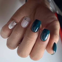 56 Stunning Nail Art Designs for Short Acrylic Nails - Page 20 of 56 - TipSilo Cute Short Nails, Short Nails Art, Cute Nails, Pretty Nails, Nailart, Short Square Nails, Uñas Fashion, Latest Fashion, Fashion Trends