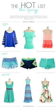 This springs hottest styles! Best sellers from Judith March's spring 2014 collection ^^^