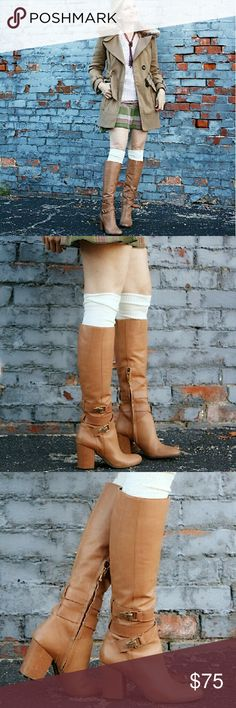 Gorgeous Sam Boots Gently WornAwesome Conditioncamel color genuine leather boots 3 inch comfortable heel Sam Edelman Shoes Heeled Boots