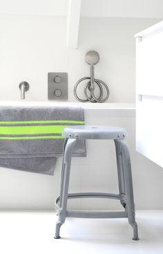 grey stoolfor the bathroom by HK living #CPHart50shades