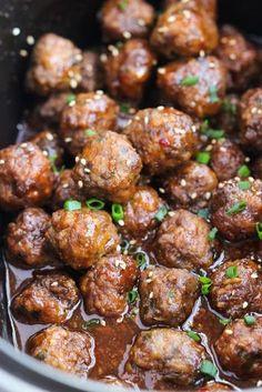 Crockpot Sesame Meatballs Recipe on Yummly