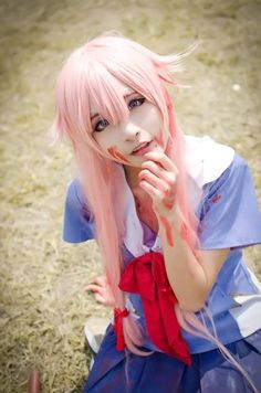 Mirai Nikki Yuno Gasai cosplay i have so much of her cosplay Kawaii Cosplay, Cosplay Anime, Epic Cosplay, Amazing Cosplay, Cosplay Outfits, Cosplay Girls, Mirai Nikki Cosplay, Yuno Gasai Cosplay, Belle Cosplay