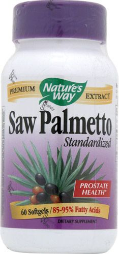 Nature's Way Saw Palmetto Standardized -- 60 Softgels - Vitacost. 2capsules/day, 1 in the morning and 1 in the evening