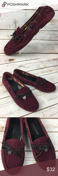 Etienne Aigner Maroon Suede Leather E-Cimi Flats These shoes are in very good, lightly worn condition. Minor scuffs, scratches and marks from wear. Please see pics for more details (: Etienne Aigner Shoes Flats & Loafers