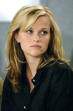 Reese Witherspoon: side-swept bangs. long layered hair