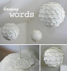 Gingered Things - DIY, Deko & Wohndesign: Deko aus Buchseiten