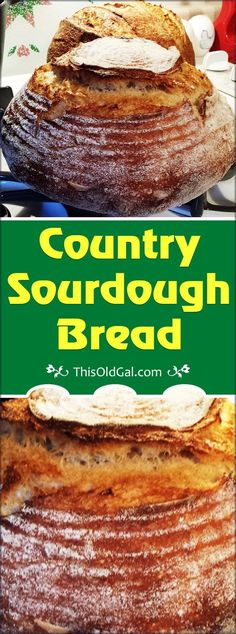 Country Sourdough Bread - A hearty, open crumb Old World Sourdough Bread. via @thisoldgalcooks