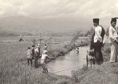 Freshwater Fishing in Bandoeng circa 1933.