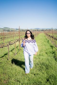 A Day in Sonoma wearing an off-the-shoulder top from LOFT