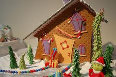 grinch | Festival of Trees 2007 - Gingerbread House contest | REDPhotography | Flickr Gingerbread House Parties, Gingerbread Village, Christmas Gingerbread House, Gingerbread Man, Gingerbread Cookies, Gingerbread Frosting, Grinch Christmas Party, Grinch Who Stole Christmas, Grinch Party