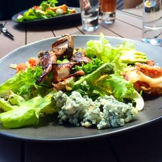 Cobb salad with grilled quail at Tavern on the Green in Central Park. NYC