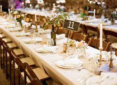 Khaki Table Cloth / Burlap Runner