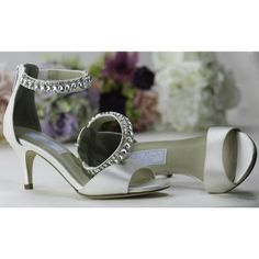 Florence 713 by Liz Rene Couture Off White or Ivory Vintage Dyeable Wedding or Occasion Shoes