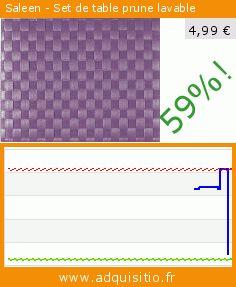 Saleen - Set de table prune lavable (Cuisine). Réduction de 59%! Prix actuel 4,99 €, l'ancien prix était de 12,31 €. https://www.adquisitio.fr/saleen/set-table-violet-lavable