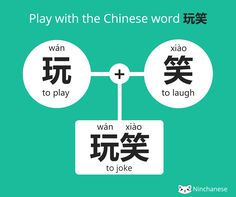 """Do you know how to say to joke in Chinese? Discover the clever way the Chinese say """"to joke"""" in Mandarin, with this week's word-building!"""