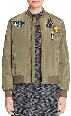 AQUA Patch Bomber Jacket