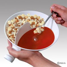 Keeps cereal crispy bite after bite in one simple motion -Great for many other uses such as chips and dips, milk and cookies, fries and ketchup, veggies and dip. -The handle of the cereal bowl can help you hold it easily and remain stable. Ketchup, Snack Bowls, Cereal Bowls, Cereal Milk, Soup Bowls, Food Bowl, Dips, Snack Containers, Bowl Designs