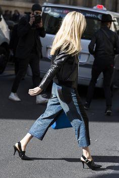 denim & leather. Paris.