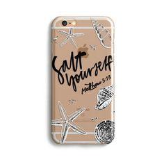 H146 - SALT YOURSELF - Sea&Salt - Scripture iPhone Protective Covers Christian Gift Idea