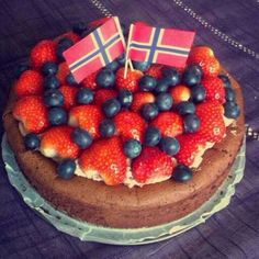 Norway, flag, cake, national day may 17th
