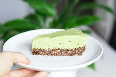 Avocado lime cheesecake - dairy and refined sugar free. The zingy filling and crunchy base is just delicious! http://www.victoriavirago.com/recipes/avocado-lime-cheesecake-dairy-refined-sugar-free/?utm_campaign=coschedule&utm_source=pinterest&utm_medium=Victoria%20Virago&utm_content=Avocado%20lime%20cheesecake%20-%20dairy%20and%20refined%20sugar%20free.