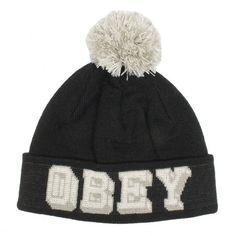 OBEY University Pom Pom Beanie black bonnet à pompom 35,00 € #obey #bonnet #beanie #skate #skateboard #skateboarding #streetshop #skateshop @playskateshop
