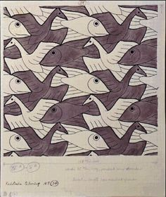 I don't quilt unless it's something I can knit, but I still see quilt patterns in things. Escher 's (born on this day in Mc Escher, Escher Kunst, Escher Art, Op Art, Escher Tessellations, Tessellation Art, Tesselations, Math Art, Dutch Artists