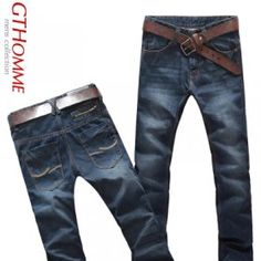 99.8 male fall clothing new style gentleman jeans male pants male Han version men's clothing practices moral culture the moist trousers leisure calf trousers  $47.90