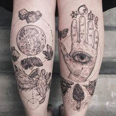 Beautiful Black Tattoos Of Flora And Fauna Inspirierende Tattoos Geometrisches Tattoo Und Tatowiertinte