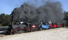 Three Australian Steam Locomotives (C17 934, DD17 1049, BB18¼ 1072).