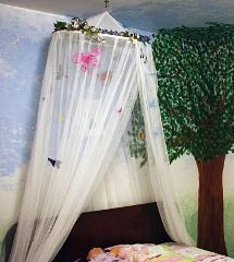 diy canopy without all the butterflies and wreath on top…just plain and simple and clean