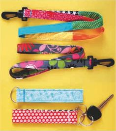 Make your own keychain or lanyard in a few, easy steps with this tutorial from Hancock Fabrics.