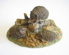 Vintage Border Fine Arts Hedgehog Family, WWF Chiltern Collection, 1985, Hand Painted Figurine by TheWhistlingMan on Etsy