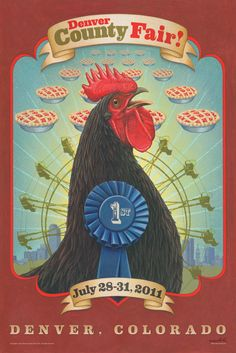 Denver County Fair Poster 2011 @ Never knew they had one and I lived there 45 years!