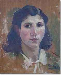 Portrait - Omar Onsi His Travel, Impressionist, Lebanon, Portrait, Paintings, Image, Art, Woman, Art Background