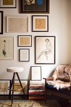 Hanging art in Living Room #homedecor