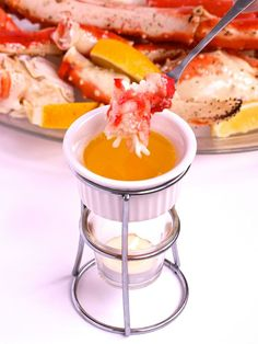 King Crab Legs with Drawn Butter - A great alternative to the traditional Christmas meal or perfect for New Year's Eve!