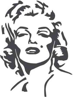 Face Silhouette | Description: Marilyn Monroe's face
