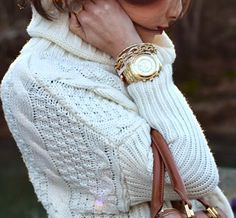 Cable knit sweater - One Size-