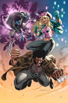 X-Treme X-Men - Wolverine, Dazzler, and Nightcrawler by Dennis Crisostomo