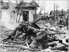 Soviet 13th Guards Rifle Division engaged in heavy fighting at Mamayev Kurgan and Railway Station No. 1 at Stalingrad.It would lose a third of its strength in the fighting.