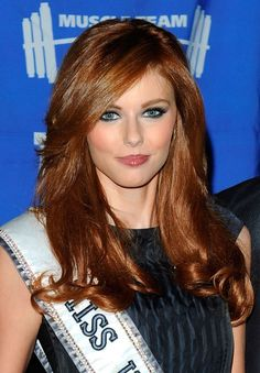 Sexy Amazing Side Part Hairstyle Miss USA Long Wavy Full Lace Wig Human Hair about 18 Inches Side Part Hairstyles, Oval Face Hairstyles, Haircuts For Long Hair, Pretty Hairstyles, Brown Hairstyles, Fashion Hairstyles, Alyssa Campanella, Long Brown Hair, Long Layered Hair