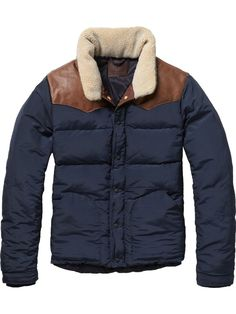 Jacket with trendy collar - Jackets - Scotch & Soda Online Shop...